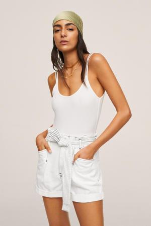 korte broek wit