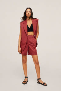 Mango high waist bermuda broek rood, Rood
