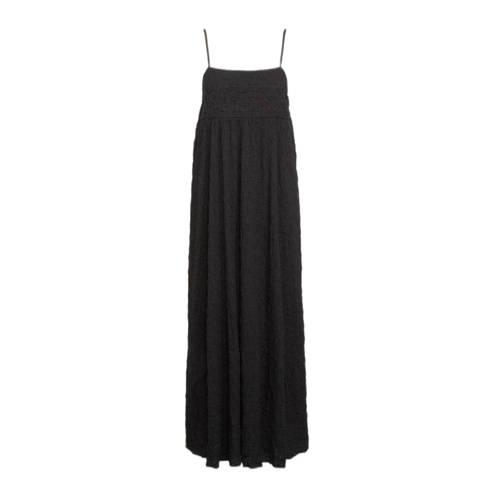 Mango maxi jurk met textuur zwart