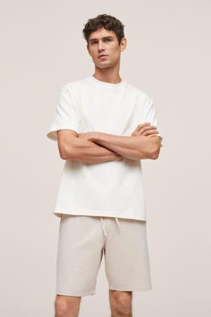 regular fit short beige