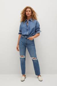 Mango high waist regular fit jeans blauw, Blauw