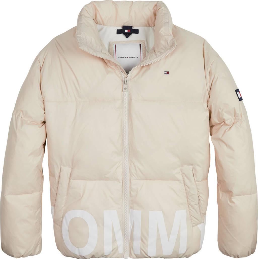 Tommy Hilfiger gewatteerde jas met logo beige, Beige