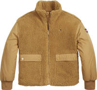Tommy Hilfiger teddy winterjas van gerecycled polyester bruin, Bruin