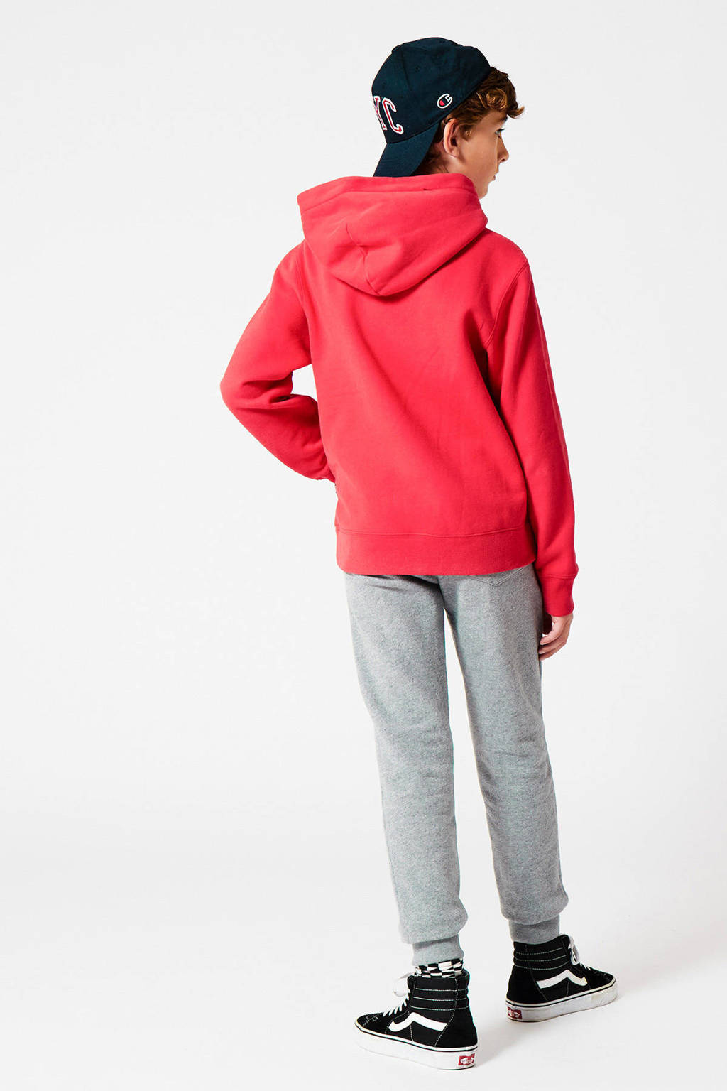 America Today Junior sweater Steven met tekst rood, Rood