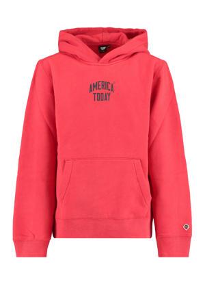 sweater Steven met tekst rood