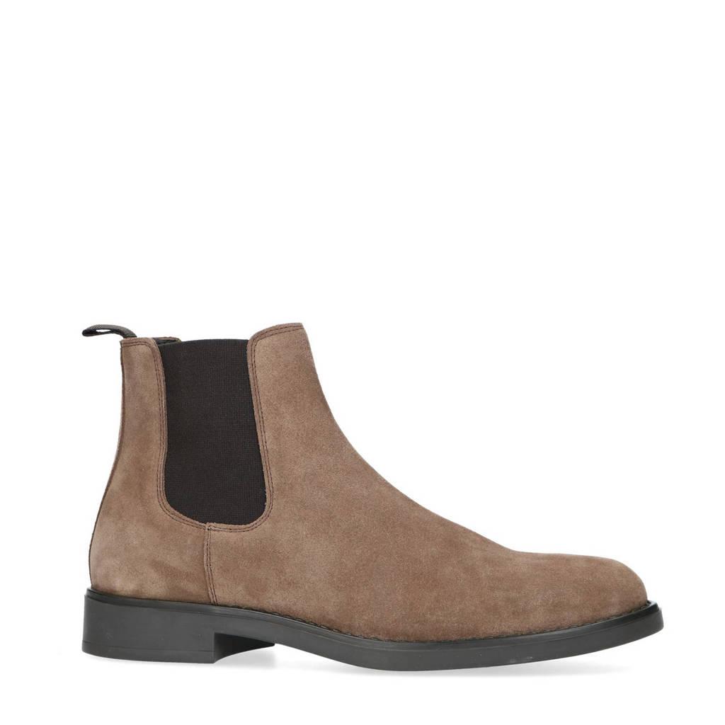 Sacha   suède chelsea boots bruin, Bruin