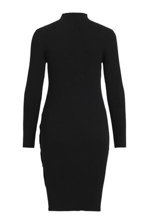 ribgebreide jurk VIGIDO zwart
