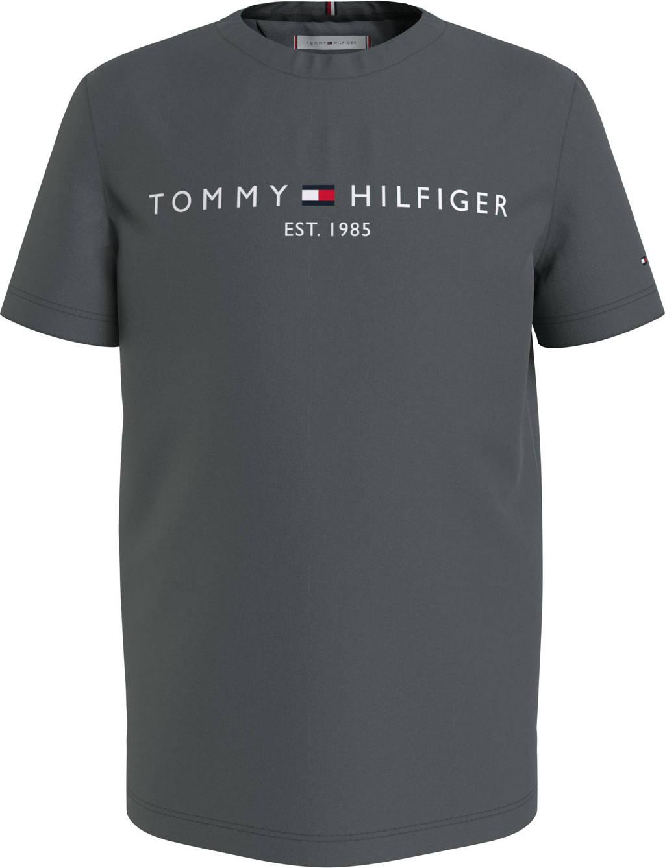 Tommy Hilfiger T-shirt van biologisch katoen antraciet, Antraciet