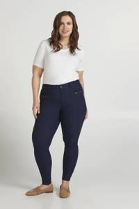 Zizzi skinny broek JEVA donkerblauw, Donkerblauw