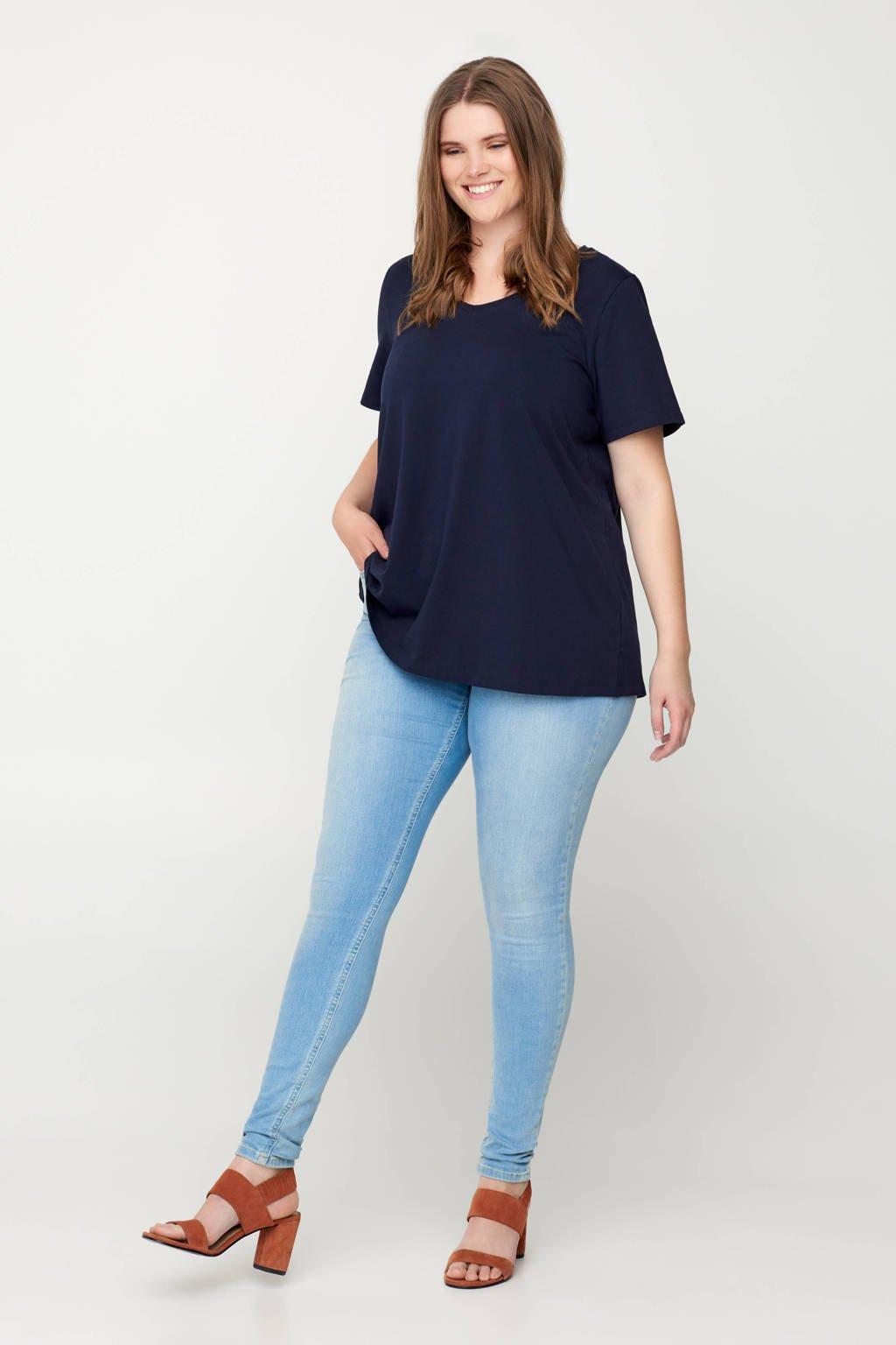 Zizzi T-shirt donkerblauw, Donkerblauw