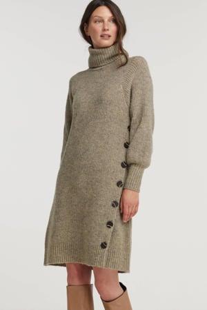 grofgebreide jurk Sila beige