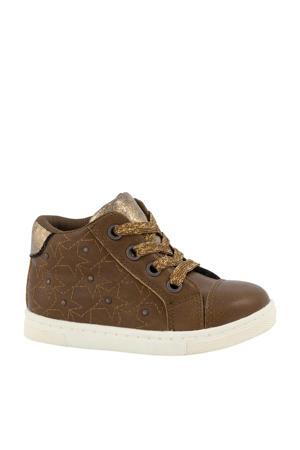 hoge sneakers cognac/goud