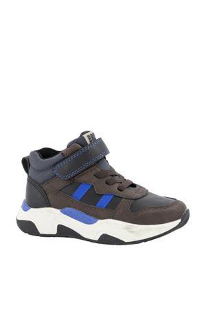 hoge sneakers bruin/blauw