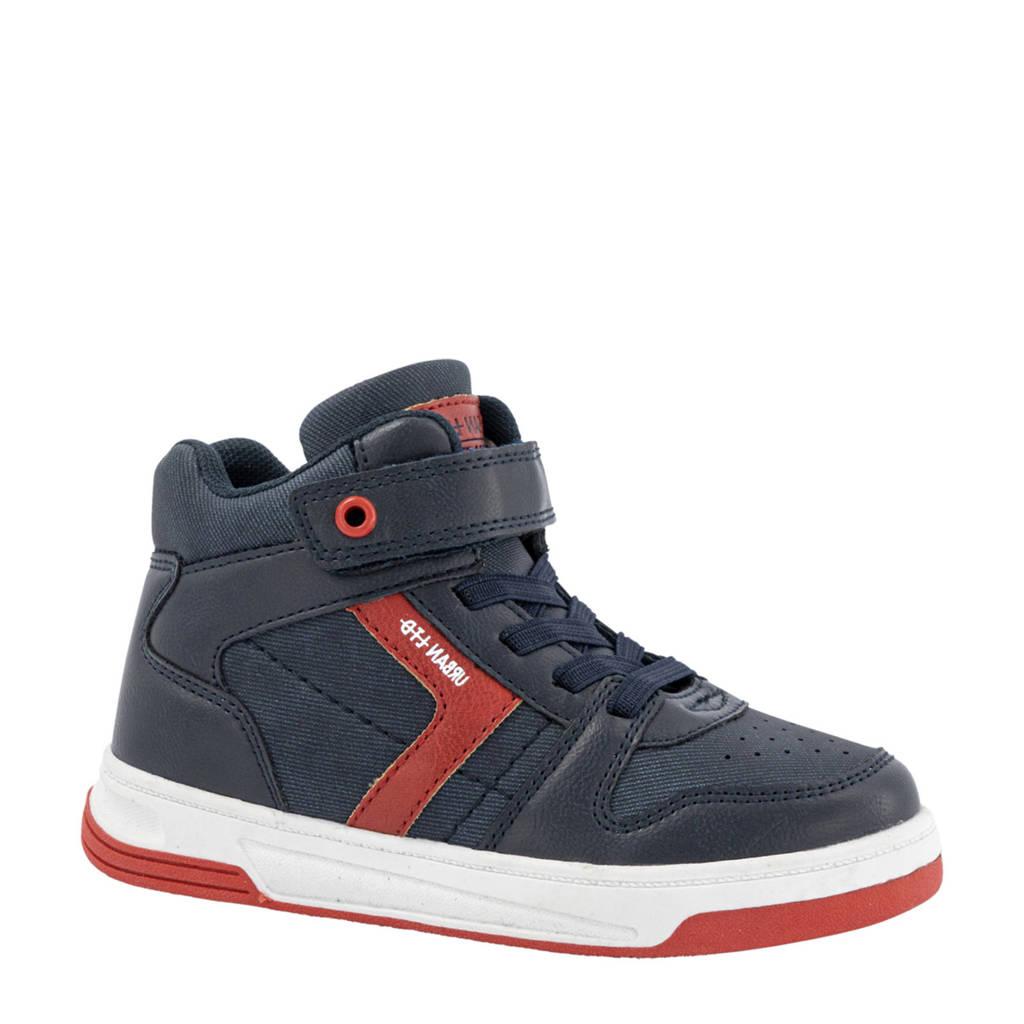 Bobbi-Shoes   hoge sneakers donkerblauw, Blauw/rood