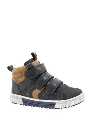 hoge sneakers zwart/bruin