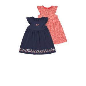 jurk - set van 2 rood/blauw