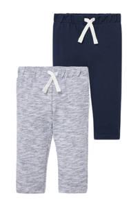 C&A Baby Club joggingbroek - set van 2 grijs/donkerblauw, Donkerblauw/grijs