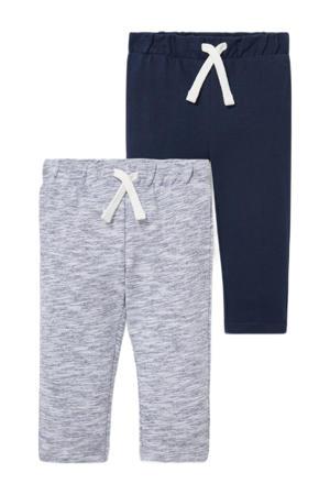 joggingbroek - set van 2 grijs/donkerblauw