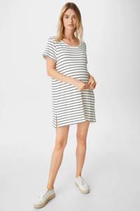 C&A gestreepte zwangerschapsjurk wit/zwart, Wit/zwart
