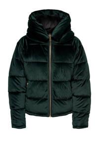 ONLY fluwelen gewatteerde jas ONLNEW groen, Groen