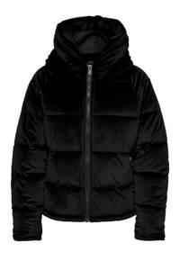 ONLY fluwelen gewatteerde jas ONLNEW zwart, Zwart