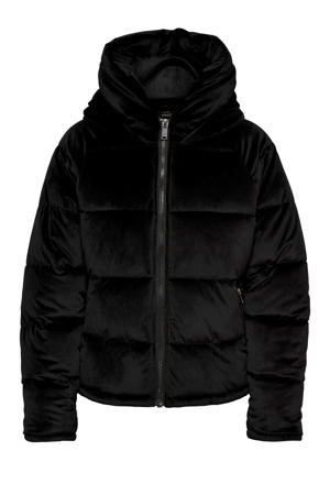 fluwelen gewatteerde jas ONLNEW zwart