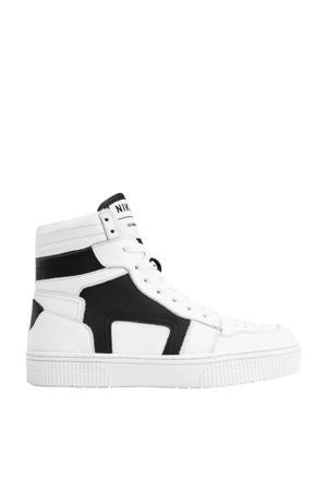 Lune  leren sneakers wit/zwart
