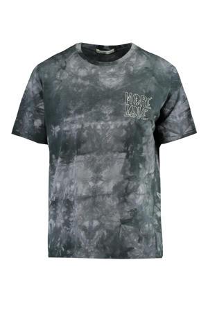 tie-dye T-shirt grijs