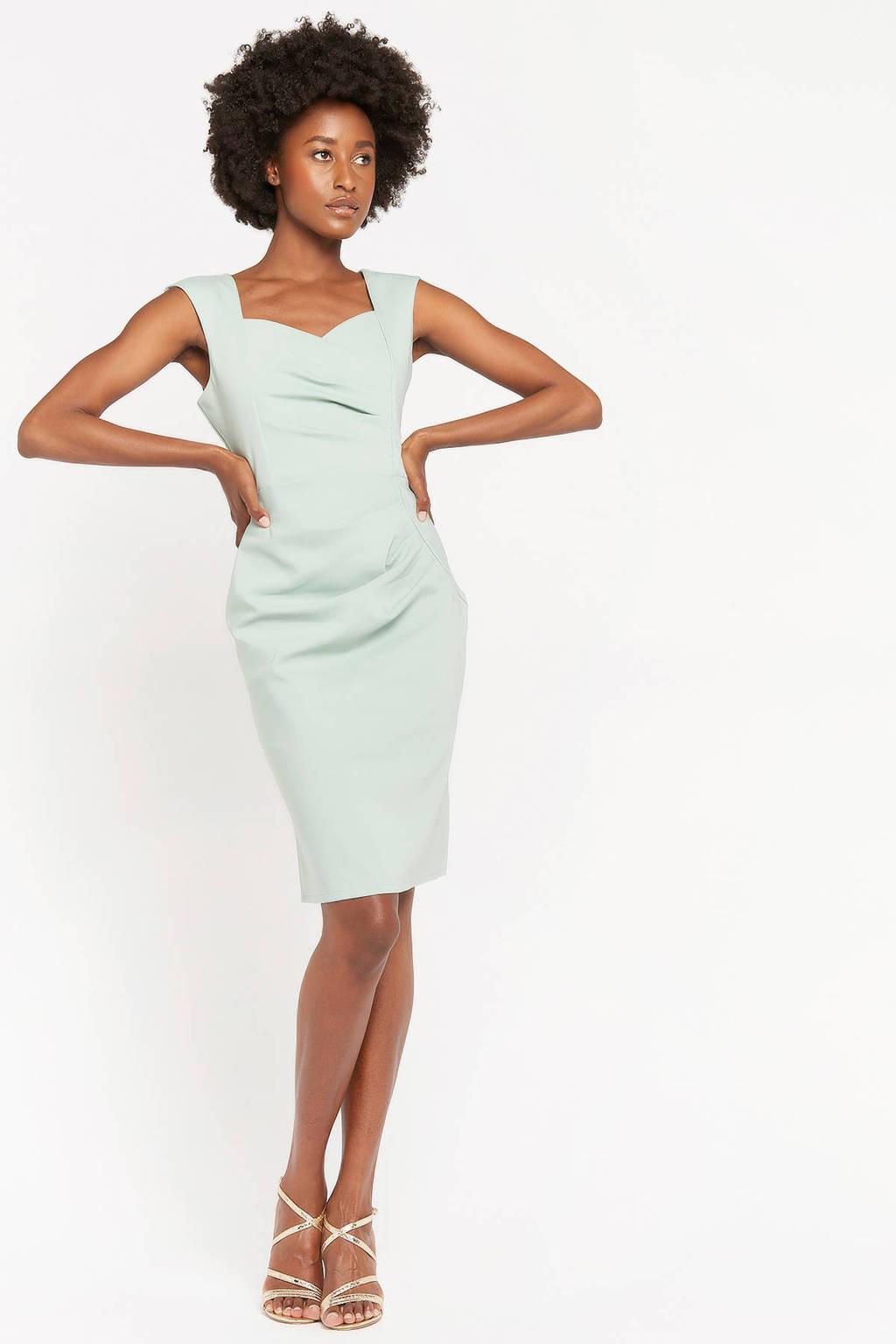 LOLALIZA jurk met plooien lichtgroen, Lichtgroen