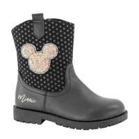 Disney Minnie Mouse  enkellaarzen met glitters zwart, Zwart