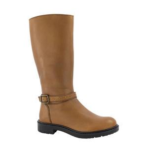 leren laarzen met siergespen bruin