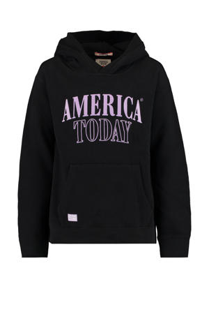 sweater Skye met logo zwart