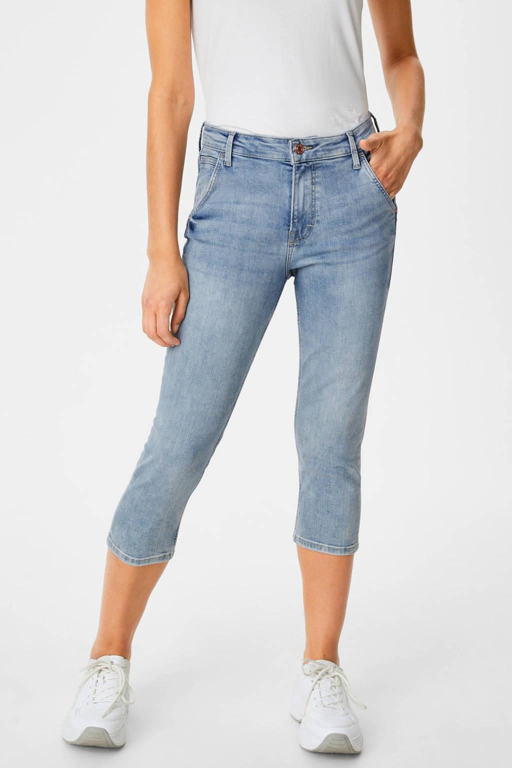 C&A skinny capri jeans blauw, Blauw