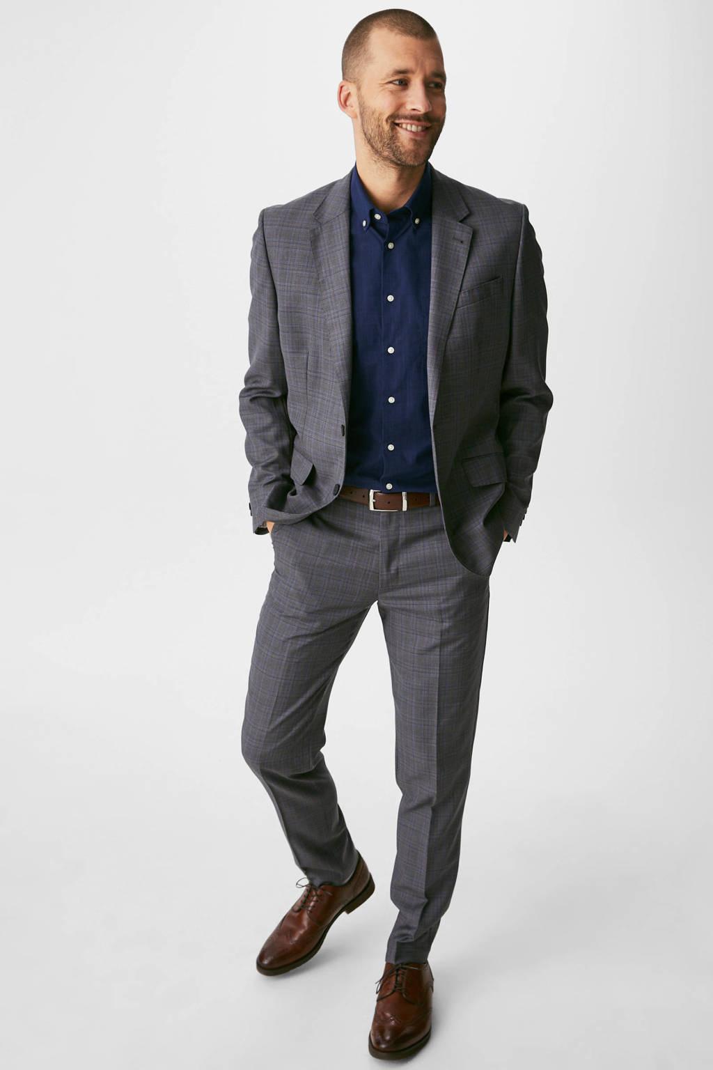 C&A regular fit overhemd donkerblauw, Donkerblauw