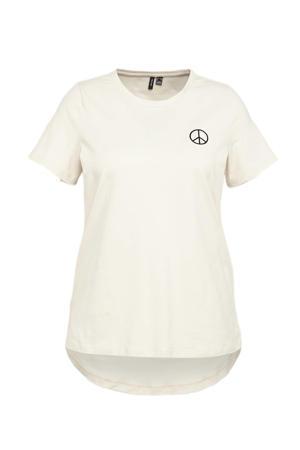T-shirt VMLOVE met biologisch katoen ecru