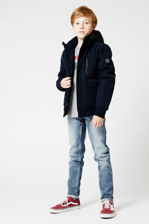 gewatteerde winterjas Jesse donkerblauw