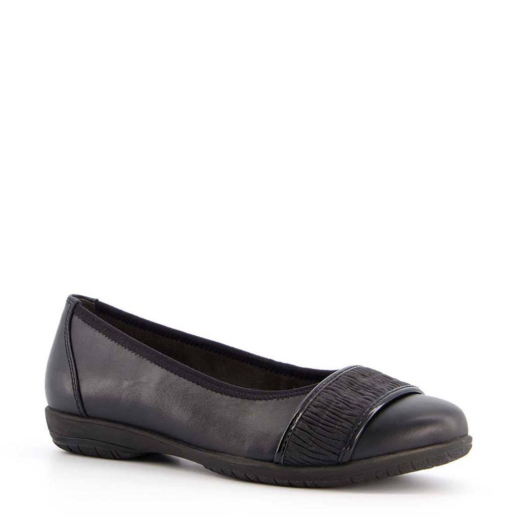 Scapino Softline   ballerina's zwart, Zwart