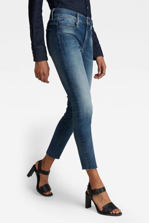 Lhana cropped high waist skinny jeans faded clear sky
