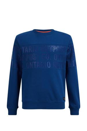 sweater met tekst kobaltblauw