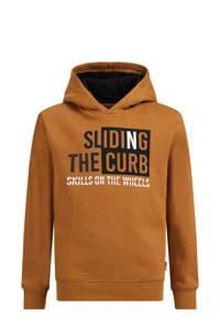 WE Fashion hoodie met printopdruk camel, Camel