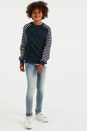 sweater met all over print multi