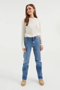 WE Fashion Blue Ridge high waist straight fit jeans blue denim, Blue denim