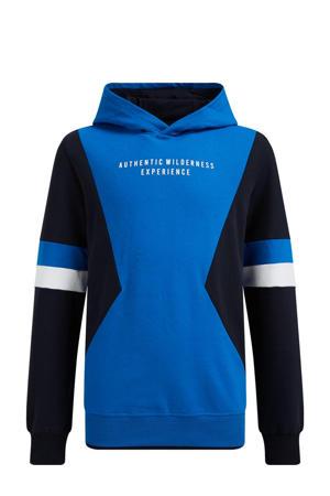 hoodie blauw/zwart/wit