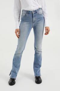 WE Fashion Blue Ridge high waist flared jeans blauw, Blauw