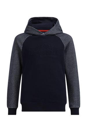 hoodie met tekst heavy blue