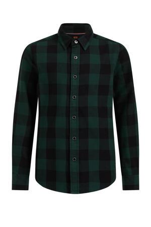 geruite overhemd donkergroen/zwart