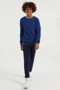WE Fashion gemêleerde trui blauw, Blauw