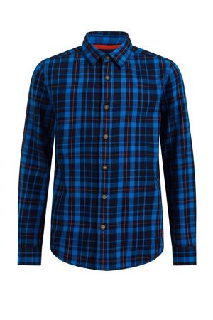 geruit overhemd blauw/zwart