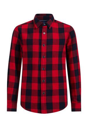 geruite overhemd rood/zwart