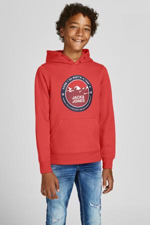 hoodie JCOBILO met logo rood
